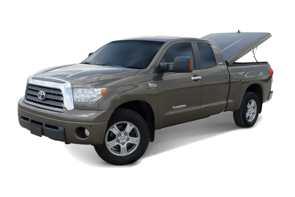 ARE LSX Ultra fiberglass tonneau cover shown on a Toyota Tundra.