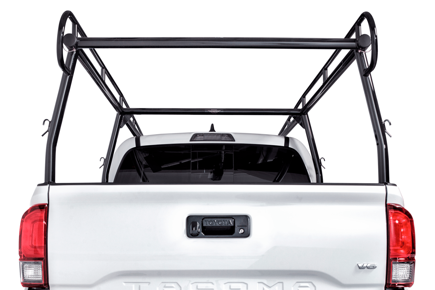 Rear shot of the truck rack.