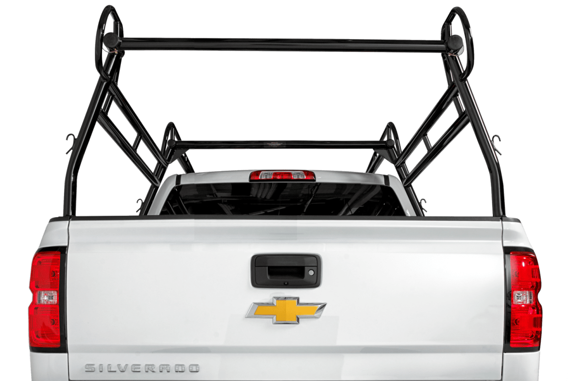 Rear shot of the 2000 series truck rack.