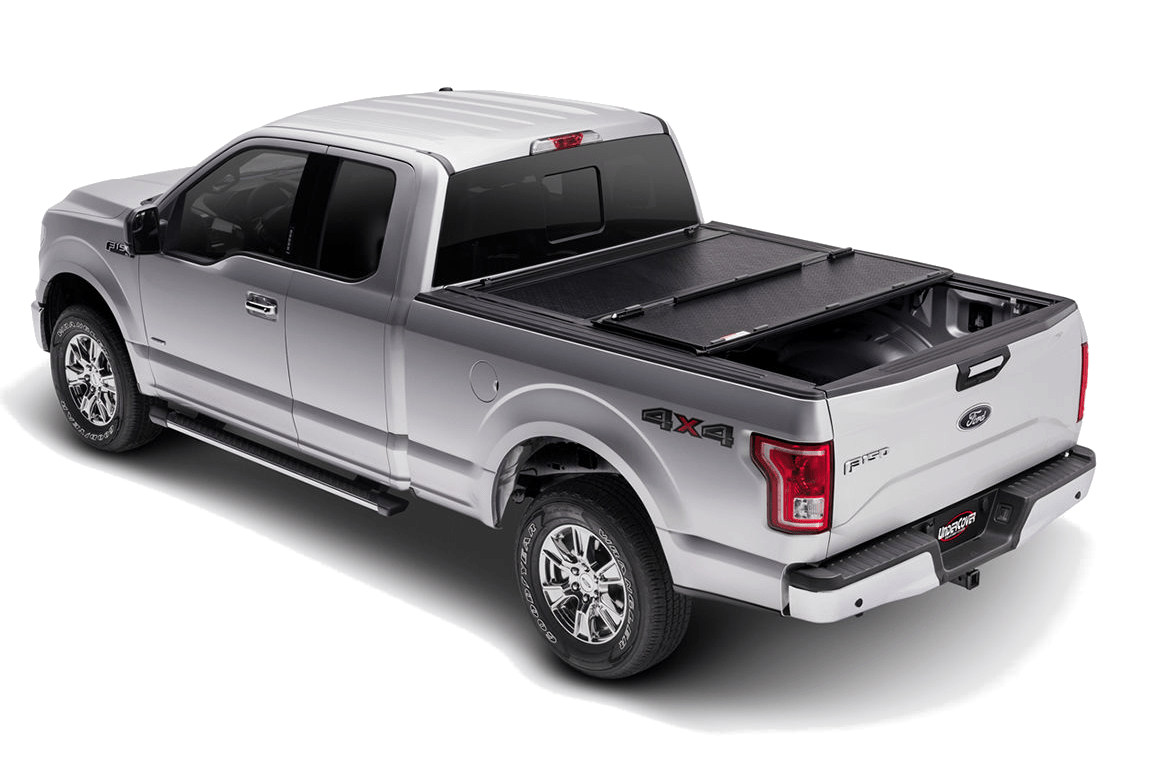 UnderCover Flex installed a Ford F150 with one panel closed.