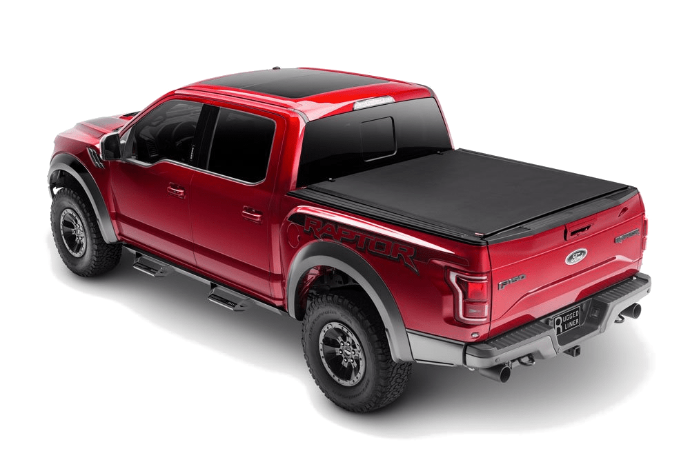 Rugged Cover premium roll up cover shown installed on a Ford Raptor.