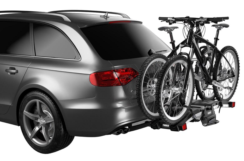 The EasyFold shown on a bike rack.
