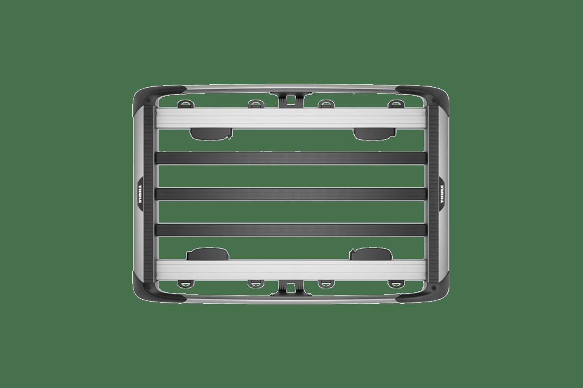 Load is secured via 8 adjustable-position tie-down loops.