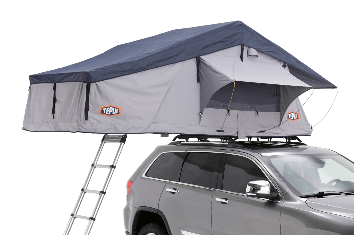 Tepui Ruggedized Series Autana 3 in grey shown installed on a vehicle.