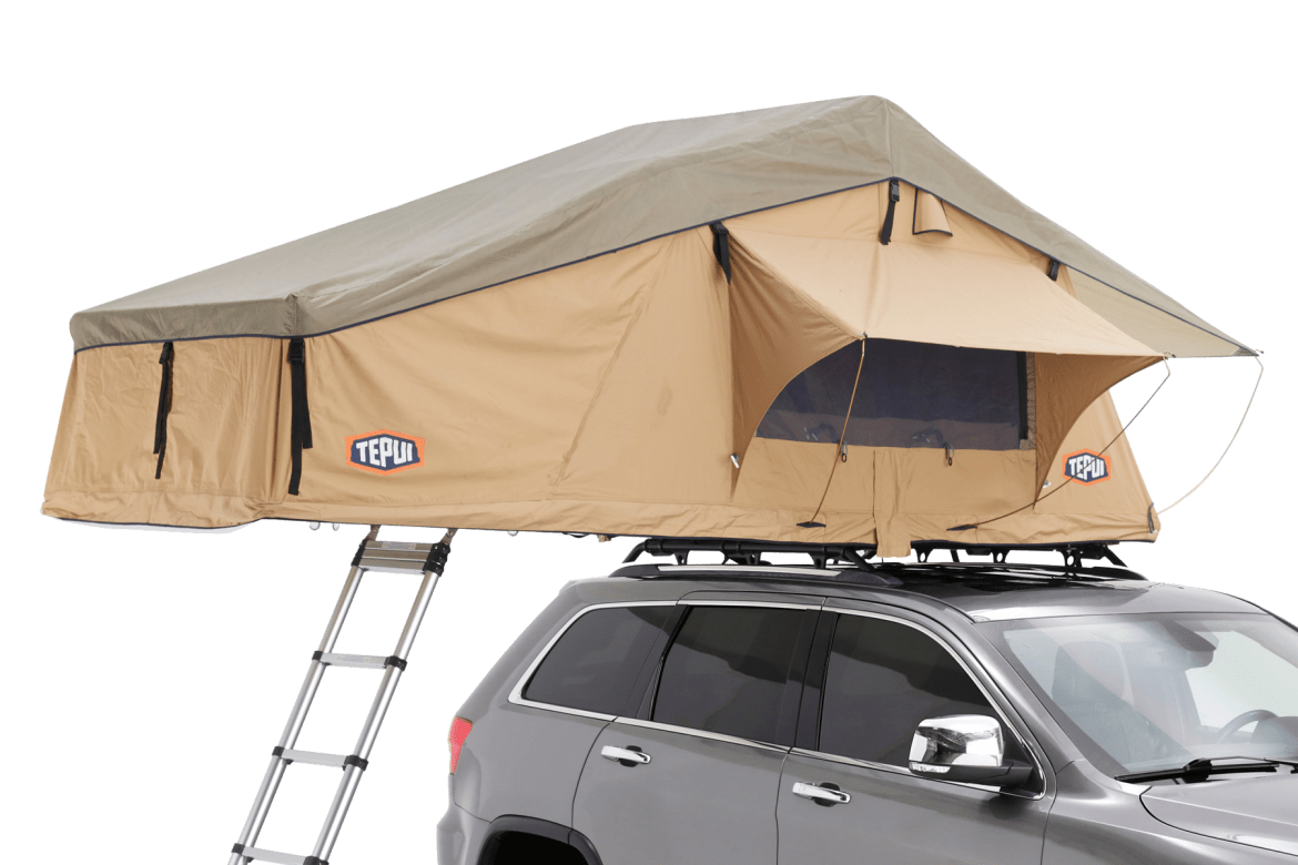 Tepui Explorer Series Autana 3 shown in installed on a vehicle in tan.