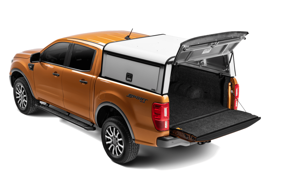 ARE DCU shown installed on a Ford Ranger rear shot rear door open.