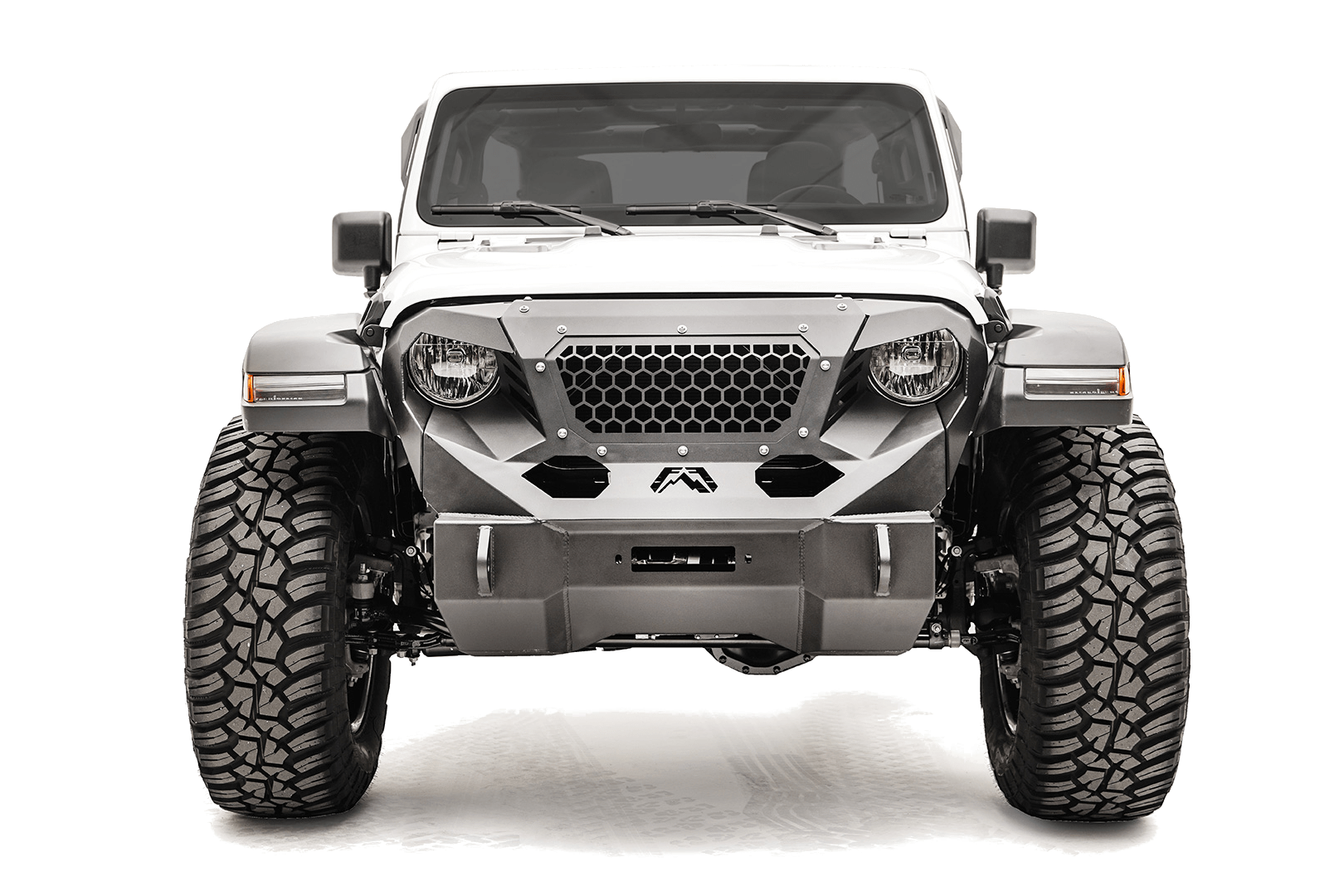 Fabfours Jeep Gladiator Grumper front bumper.