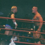 The Prototype stares down Crash Holly