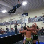 Shot of the Night:  SoCal Crazy leaps off the cage!