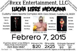 Lucha Libre 2-7-15 flyer