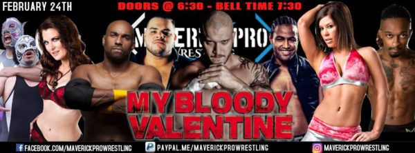 Maverick Pro Presents My Bloody Valentine On February 24th, 2018 At  American Legion #206 In Los Angeles At 7:00 Pm.