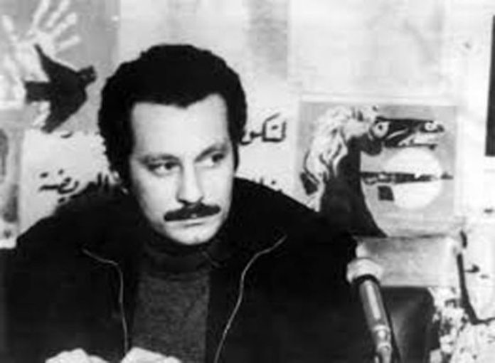 Ghassan Kanafani at the PFLP office in Beirut. Killed together with his niece by a car bomb by Israeli agents d. July 8, 1972