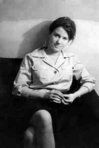 Ulrike Meinhof, German journalist and member of the RAF (Red Army Faction). 1964. Source: Private picture, supplied by Ulrike Meinhofs daughter, Bettina Röhl. Photo: unknown member of the Meinhof family. Public Domain.