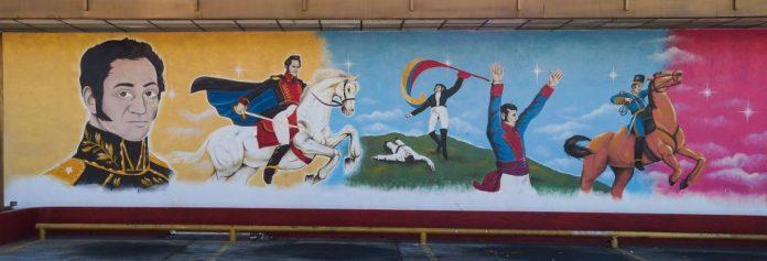 Murmaleri med Simòn Bolivar. Maracaibo. Venezuela. 8 December 2013, 10:35:53. Source: Own work Author: Rjcastillo (CC BY-SA 3.0)
