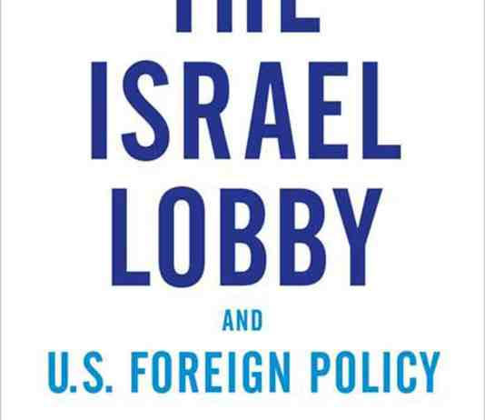 "Front Cover of ""The Israel Lobby and US foreign Policy""."