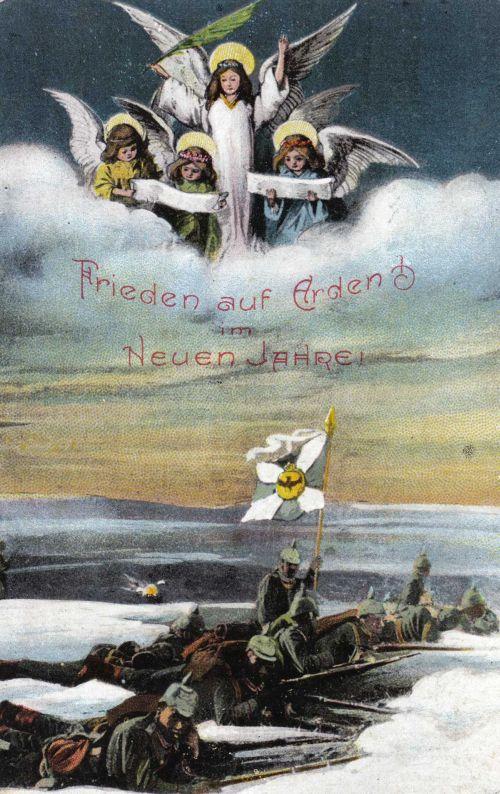 Officielt tysk soldater postkort, 1914