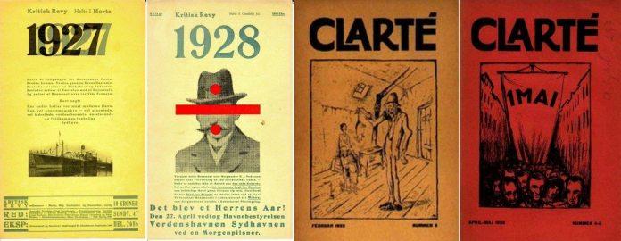 En række nye socialistiske og kritiske tidsskrifter kom til i 1926, bla. Clarté og Kritisk Revy. Se januar og 1. juli 1926.