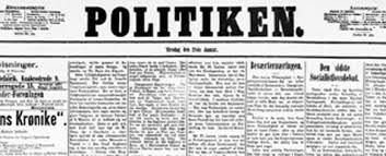 Første nr af Politiken 1. oktober 1884.