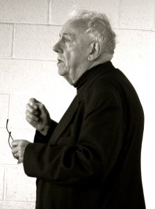 Alasdair MacIntyre at The International Society for MacIntyrean Enquiry conference held at the University College Dublin, March 9, 2009. Source: https://www.flickr.com/photos/seanoconnor365/3351618688/in/set-72157615114247195/ Photo: Sean O'Connor