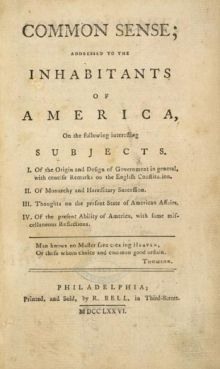 Tom Paine's bog: Common Sense