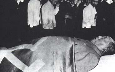 Mao på Lit de Parade 1976