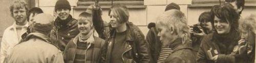 Martin Kat skrider fronten af i Wesselsgade, efteråret 83