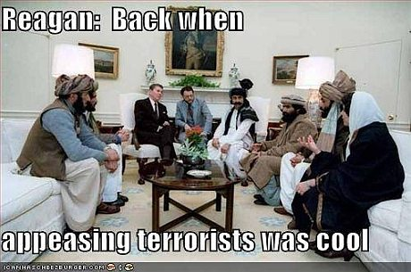 Reagan dengang det var cool at glæde terrorister
