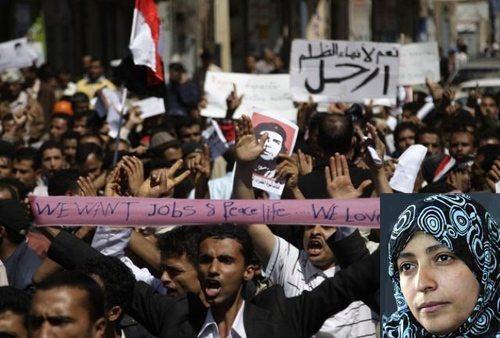 Fra demonstrationerne i Yemen 2011