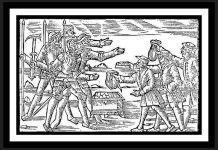 Skatteinkrævning (her væbnet) var årsag til mange bondeoprør