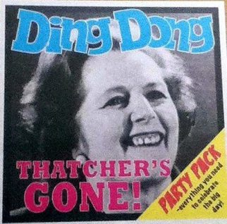 """""""The death of Margaret Thatcher is no cause for celebration. It came 35 years too late"""" (Source: The Thatcher Mix)"""