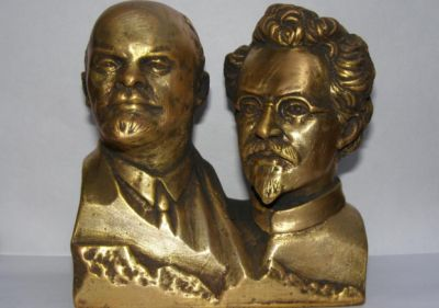 Lenin- og Trotskij-buster til salg på E-bay (ca. 600 DKR)