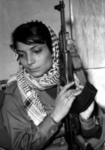 Iconic picture of the activist Leila Khaled, 1970