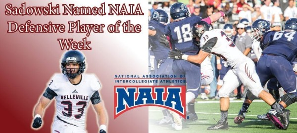 Sadowski Named NAIA Defensive Player of the Week - News