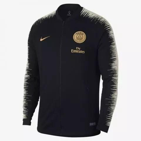 nike psg mens anthem jacket black gold