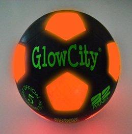 Light Up LED Soccer Ball Black