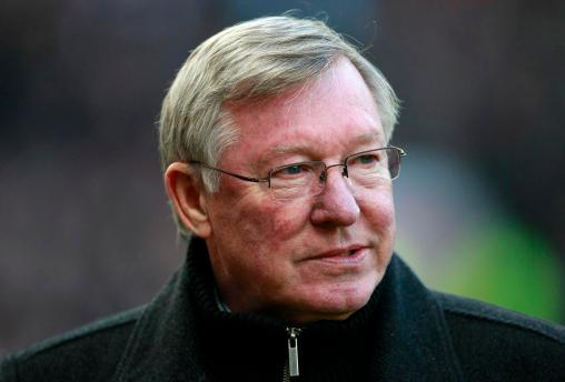 Manchester United manager Alex Ferguson reacts before their English Premier League soccer match against Bolton Wanderers at Old Trafford, Manchester, England, Saturday Jan. 14, 2012. (AP Photo/Tim Hales)