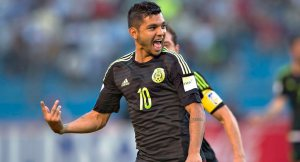 Jesus 'Tecatito' Corona Celebrates his Golazo against Honduras