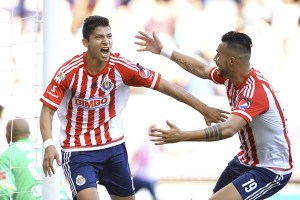 Angel Zaldivar celebrates with Michel Vazquez