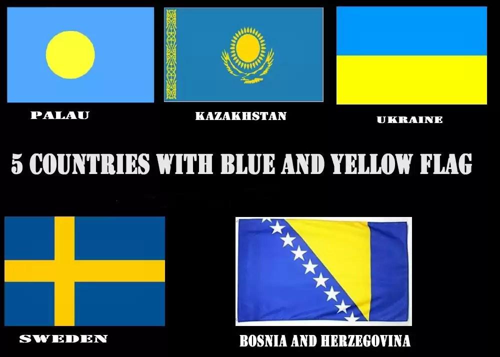 drapeau jaune bleu pays etats