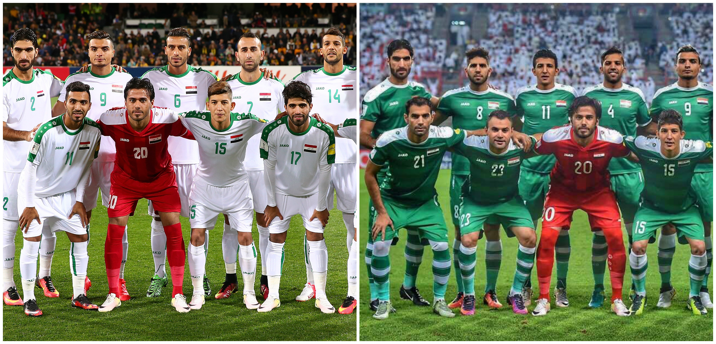 Iraq National Team Jako Shirts now available exclusively to Soccer Iraq!