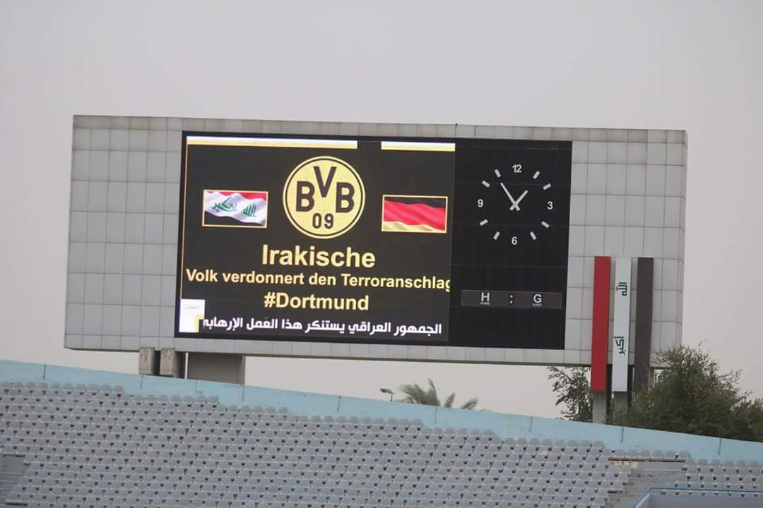'Irakische Volk verdonnert den Terroranschlag' – Iraqi Premier League express solidarity with Dortmund