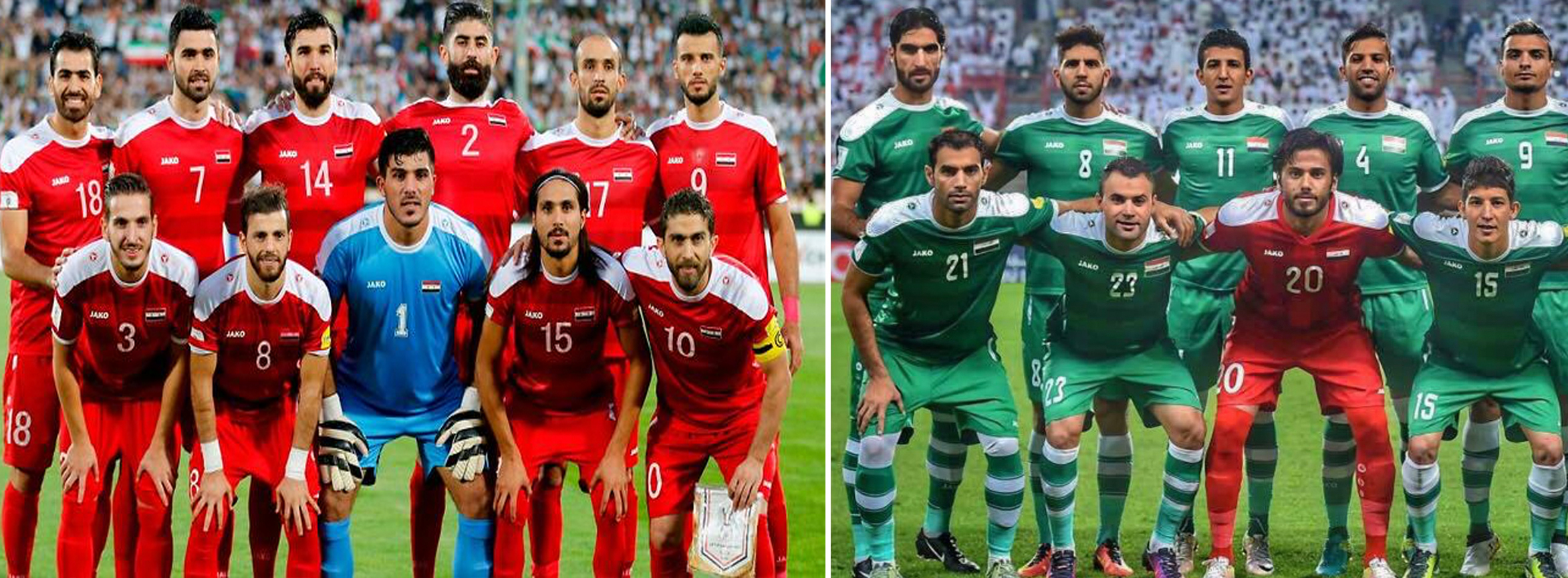 Iraq and Syria national team Jako jerseys now available on Soccer Iraq