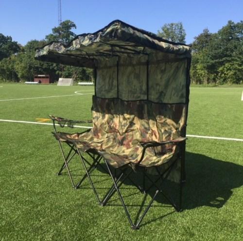 Foldbar udskiftnings bænk til 3 personer i camouflage