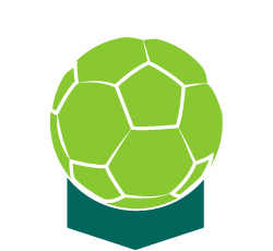 An icon of an indoor soccer ball.