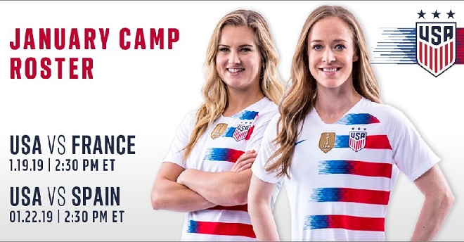 USA v France Saturday For USWNT as World Cup Preparation Opens