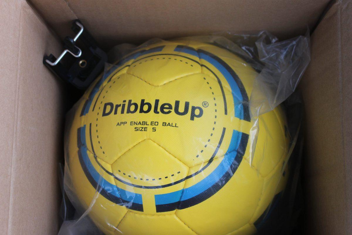 5637221ae DribbleUp Smart Soccer Ball Package - Soccer Stripes