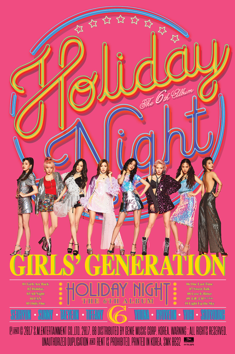 SNSD TAEYEON HOLIDAY Ver Official PHOTOCARD 6th Album Holiday Night 태연