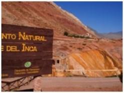 Le « pont de l'Inca » sur la route transandine de Mendoza à la frontière du Chili