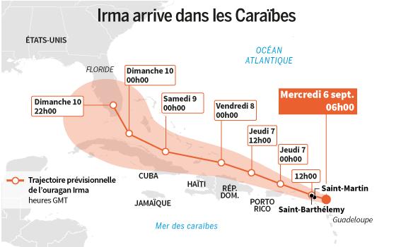 Irma arrive dans les Caraïbes-1