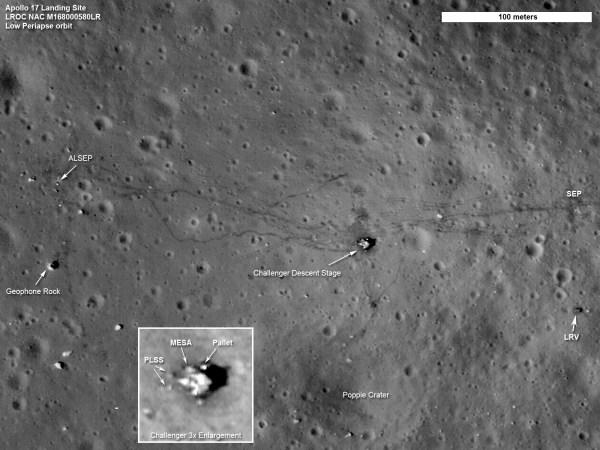 NASA satellite records Apollo Moon landing sites in high ...